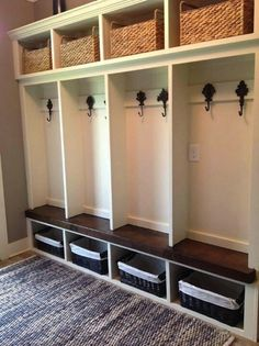 ✓ 70 Attractive Farmhouse Mudroom Entryway Ideas – Best Home Decorating Ideas - Page 17 House Plans, Home, Mudroom Organization, Vintage Laundry Room, Mudroom Shelves, New Homes, House, Mudroom Lockers, Mudroom