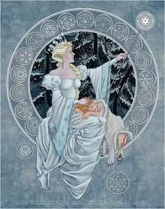 Personal online gallery of art and illustration by Edsel Arnold. Edsel's artwork includes Fairy Tale, Fantasy, and Religious themes, and highlights a selection of original Wheel of Time art based on the popular characters created by Robert Jordan. Snow Queen, Ice Queen, Snow Maiden, Fairytale Art, Art Base, Art Moderne, Winter Art, Time Art, Children's Book Illustration