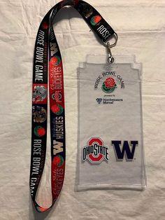 2019 Rose Bowl Dueling Teams Ohio State vs Washington Lanyard w.Ticket  holder https  3cc56aa55