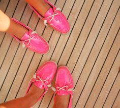 Hot pink sperrys. Amazing.