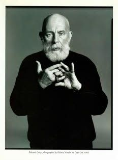 Edward Gorey and the Tao of Nonsense - The New Yorker, November Edward Gorey, Edward Lear, Pbs Mystery, British Literature, People Of Interest, Photographs Of People, The New Yorker, American Artists, Illustrators
