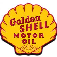 Vintage Tin Signs, Vintage Labels, Vintage Ads, Vintage Racing, Vintage Style, Advertising Signs, Vintage Advertisements, Shell Gas Station, Old Gas Pumps
