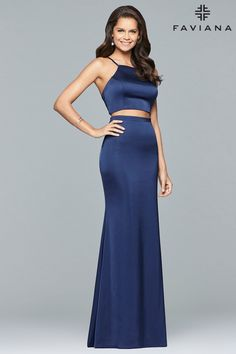 4bf011d1288 Get runway dress inspiration this prom season. Faviana s10013 is a two-piece  long