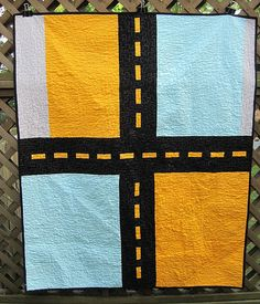 The perfect back for a little boy's quilt.