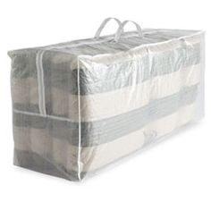 For the patio cushions?  This might be larger than you need though. The Container Store > Outdoor Cushion Storage Bag