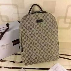 First to launch. Gucci backpack  Genuine calf leather and PVC Model : 353476 Size : 32* 14* 45* Ref : 34A1