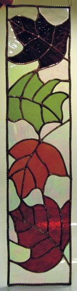 Tiffany stained glass autumn panel
