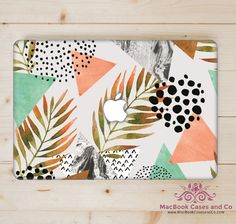Tropical Geo MacBook Case. MacBook Case. Top (printed) and Bottom (clear) Hard…