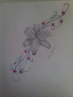 Lily tattoo design