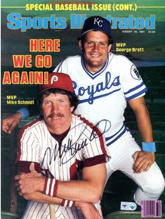 e9fccbb30ab679 Mike Schmidt Philadelphia Phillies Autographed Here We Go Again Sports  Illustrated