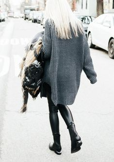 figtny.com | outfit • 19 Hope Grand sweater / Alexander Wang Chelsea boots / Aritzia Daria legging / Aritzia Coquette scarf