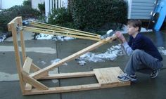 Build the backyard OGRE catapult part 4 | Woodworking ...