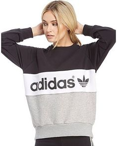 The perfect blend of chic style and supreme comfort, check out this women's Authentic Crew Sweatshirt from adidas Originals, coming exclusively to JD. In a black, white and grey colour block design, this sweatshirt features a ribbed crew neck, cuffs and waist to ensure snug comfort wherever the day takes you. Completed with the iconic Trefoil branding to the chest providing a quality finish to this effortlessly cool sweatshirt. ...