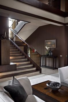 New Stairs Design Architecture Interior Ideas Interior Exterior, Home Interior Design, Interior Architecture, Interior Ideas, Luxury Staircase, Home Stairs Design, Villa, House Front Design, Modern Stairs