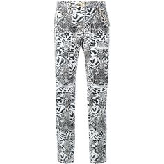 Philipp Plein straight leg leopard print jeans ($775) ❤ liked on Polyvore featuring jeans, button fly jeans, white straight leg jeans, leopard jeans, straight leg jeans and philipp plein