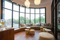 Relax in our salon lounge before your treatment.