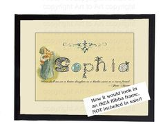DAUGHTER'S NAME Poster Personalized Vintage Style by Printopolis