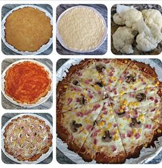 Pizza con base de coliflor baja en carbohidratos