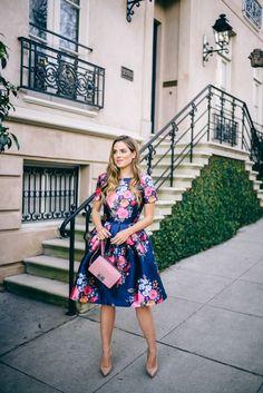 Full Skirt Floral Dress