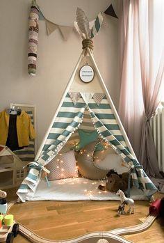 Diy Teepee, Teepee Party, Teepee Tent, Kids Tents, Teepee Kids, Baby Tent, Teen Bedroom Designs, Girls Bedroom, Diy Bebe