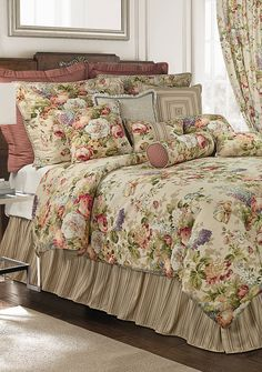 Rose Tree Vienne Bedding Collection - Online Only Home Bedroom, Bedroom Decor, Vintage Bedding Set, Waverly Bedding, Beautiful Bedding Sets, Bed Cover Design, Country Bedding, French Country Living Room, Cute Bedroom Ideas
