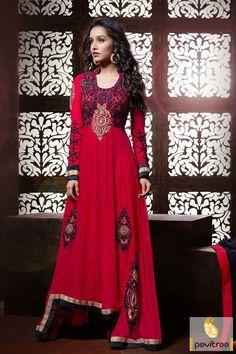 Pavitraa Maroon Anarkali Party Wear Salwar Suit Rs 5738.4 #diwaliutsav #dipavalisalwarsuits #dipawalioffer