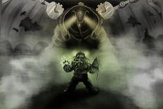 Bioshock Big Daddy vs Songbird by HereticOfDune.deviantart.com on @DeviantArt