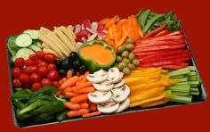 #Crudités are traditional French appetizers comprising sliced or whole raw vegetables  which are usually dipped in a homemade vinaigrette or other dipping sauce. Crudités often include celery sticks, carrot sticks, bell pepper strips, broccoli, cauliflower, and asparagus spears; sometimes olives depending on local customs. Blue cheese dip rocks with broccoli and cauliflower.