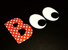Fabric Applique TEMPLATE Pattern ONLY Halloween Letters EYEBALLS Boo...New. $1.50, via Etsy.