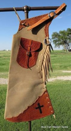 New Handmade JD HENRY Step In Bell Buckstitched Chaps for Sale - For more information click on the image or see ad # 34957 on www.RanchWorldAds.com
