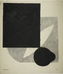 Onchi Koshiro Japanese, 1891-1955, Forme No. 9: About Black Color, 1949, 56.2 x 48.2 cm