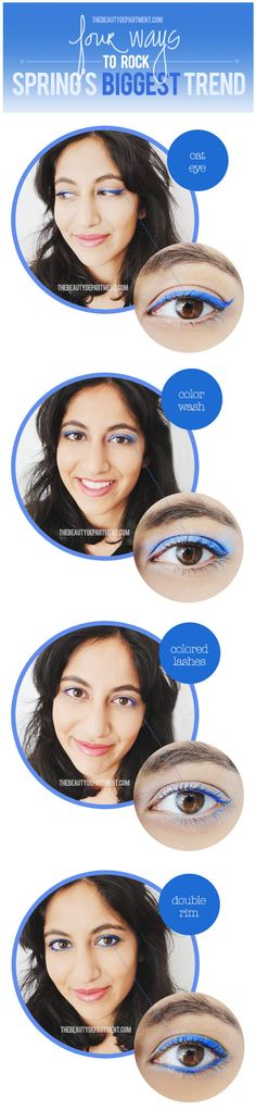 The Beauty Department: Your Daily Dose of Pretty. - ELECTRIC BLUE EYE POP