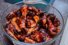 Carmelized baked chicken wings - I just make this using chicken thighs.  DELISH!