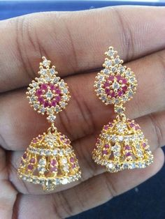 """""""Fashion earrings"""" <3 <3 Code: fae 325 Price:1990/- For booking and further details pls call or whatsapp us at +919600639563. Happy shopping y'all :) Be Beautiful :)"""