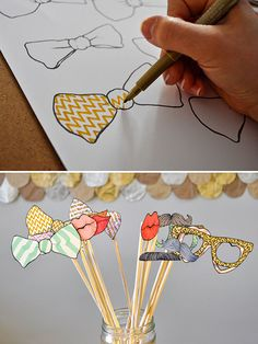 DIY Photo Booth Props #photography #wedding #party