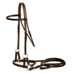 Tory English Bridle Leather Nose Side Pull - Statelinetack.com