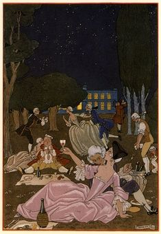 Party On! Eighteenth Century French style - George Barbier print
