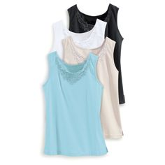 Lace-Trimmed Tank - Women's Clothing – Casual, Comfortable & Colorful Styles – Plus Sizes