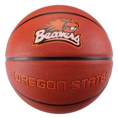 """NCAA Oregon State Beavers Deluxe Two-Tone Rubber Official Size Collegiate Design Basketball by Baden. $12.86. The Baden BRSKT two-tone deluxe rubber basketball has the look of leather ball with the durability for rugged outdoor play.  With wide, deep channels, this ball offers maximum grip and even bounce for a better game.  Great for all skill levels.  Show off your team spirit with Baden's collegiate licensed basketballs!  Official size, measuring 29.5"""".. Save 32% Off!"""