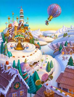 Land of Sweets illustration.