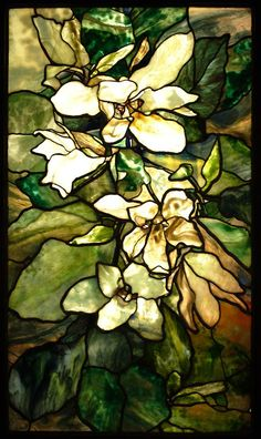 "This ""Magnolia"" window was designed by Agnes Northrop in 1900 for the World Fair in Paris. It is now in the State Hermitage Museum in St. Petersburg, Russia."