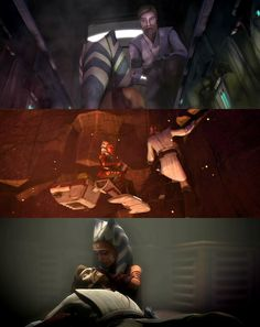 I think of them as such great friends. I love the relationship Ahsoka has with Anakin and Obi-Wan.