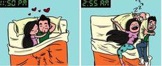 Las 13 Situaciones Más Incómodas Cuándo Duermes En Pareja - Magazine Feed