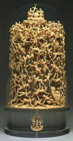 "☆ ""Fall of the Rebel Angels"" - Sculptor unknown - Early 18th century -Naples- Ivory; The Nelson-Atkins -::-Museum of Art, Kansas City, Missouri ☆"