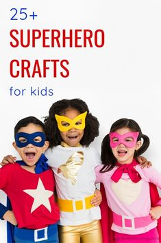 Enjoy these fun superhero crafts that your kids will love. With over 25 superhero craft ideas kids this post is perfect for planning your next superhero party.