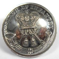 Original Silverplated Victorian Militia Button. Armagh Light Infantry. Irish