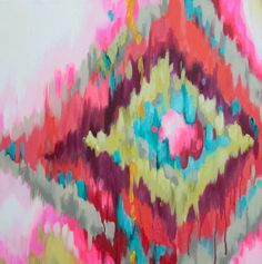 Kristy Gammill's Textile inspired paintings.