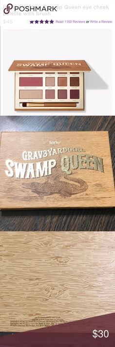 LImited edition! Tarte Grav3yardgirl Swamp Queen 9 eyeshadow shades 1 blush, bronzer and highlighter  Used 3x  It is the perfect palette for an on the go, but I just don't reach out for it anymore. Authentic Comes with brush tarte Makeup