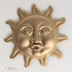 3D model of the sun blowing for visualization and production on CNC machines.
