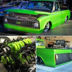 Bagged Trucks, C10 Trucks, Hot Rod Trucks, Mini Trucks, 80s Chevy Truck, Classic Chevy Trucks, Chevy C10, Chevrolet, Custom Trucks